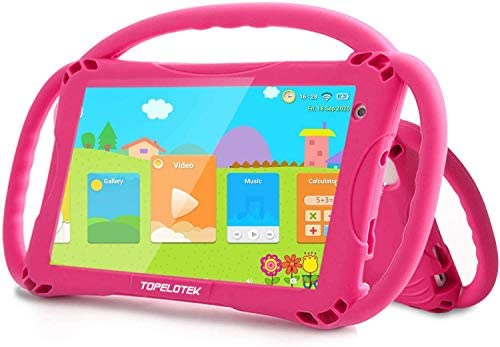 Kids Tablet Toddler Tablet for Kids WiFi Android 32GB Kids Tablets 4000mAh HD Display Kids Learning Educational APP Pre-Installed Parental Control Kid-Proof Case with Handles (Rosered1)