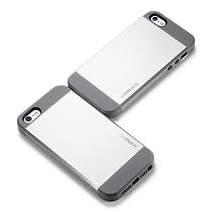 Spigen SGP10090 Slim Armor Case for iPhone 5/5S - 1 Pack - Retail Packaging - Satin Silver