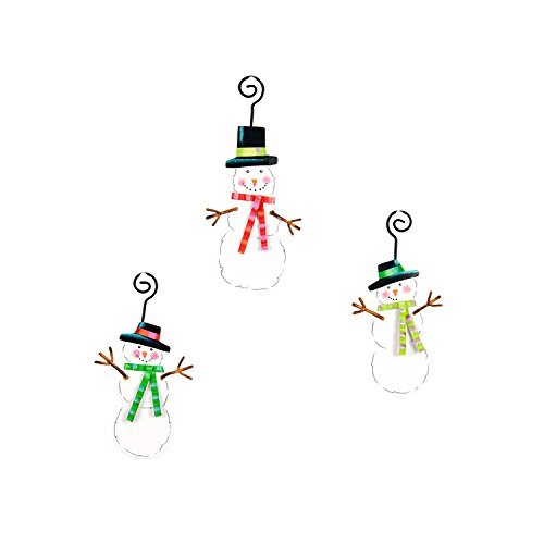 The Round Top Collection - Out of the Pile Snowmen Ornaments, Set of 3 - Metal ()