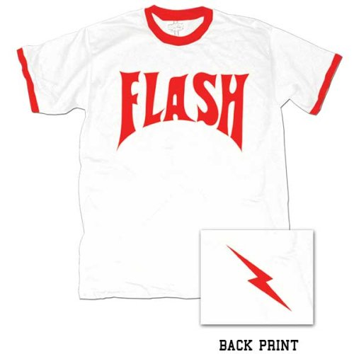 Flash Gordon Flash Bolt Ringer Adult White T-Shirt S ()