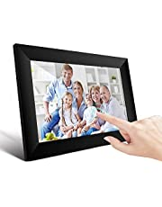 UCMDA Digital Photo Frame - 10.1 inch Smart WiFi Cloud Digital Picture Frame with FHD IPS Touch Screen Display, 16GB Storage, Automatic Rotation, Share Your Photos and Videos via Free App at Anytime and Anywhere (Black)