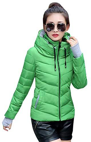 Synthetic Women Jacket Coat Hooded Insulated Coat Puffer 2 EKU vz4AwqBz