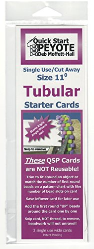 Quick Start Peyote Singe Use Cards for Tubular Peyote Stitch (Peyote Bead Bracelet)