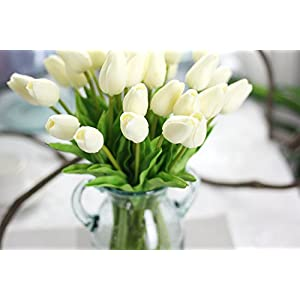 SHSYCER 20pcs Tulip Flower Home Garden Hotel Party Event Christmas Wedding Gift Decoration Artificial Flowers Nearly Natural 4