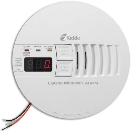 Kidde KN-COP-IC Hardwire Carbon Monoxide Alarm with Battery Backup and Digital Display, Interconnectable Size 1 Pack Model 21006407