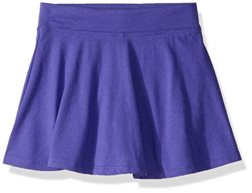 The Children's Place Girls' Big' Solid Knit Skort, Purple rain, XXL(16)]()