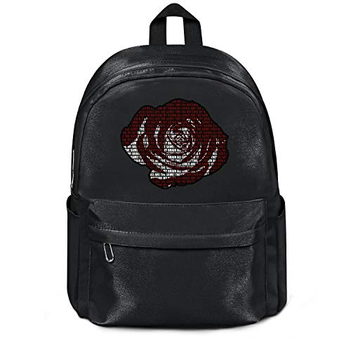 Womens Girl Boys College Bookbag Classic Nylon Lightweight Travel Daypack Backpack Juice-wrld-all-girls-are-the-same- College Bookbag Black (Top 5 Hip Hop Artists Of All Time)