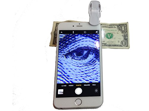 60x LED Cell Phone Clip On Microscope, Magnifier, Fits All Phones and Tablets, by Tonic Innovation