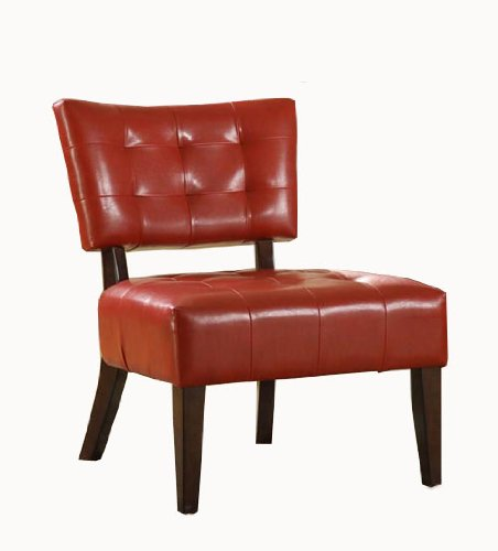 UPC 782359121925, Homelegance Warner Faux Leather Accent Chair, Lava Red