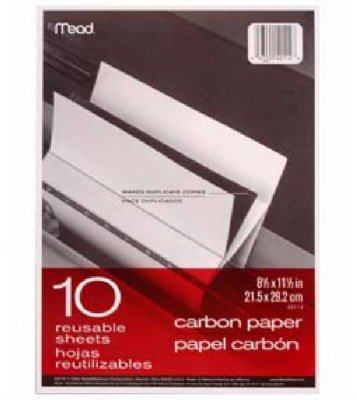Mead Black Carbon Mill Finish Paper, 8-1/2 x 11, 10 Sheets by ACCO/Mead