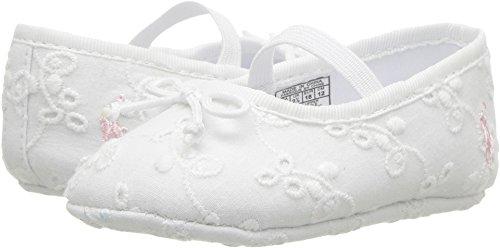 Polo Ralph Lauren Kids Girls' Allie Crib Shoe, White Eyelet, 4 M US (Ally Girl)