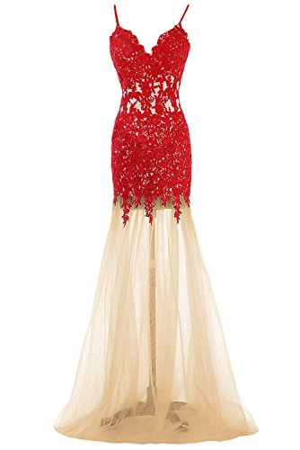 90b123b0fa788 Sunvary Honorable Mermaid Lace Prom Evening Dresses Bridesmaid Gowns ...