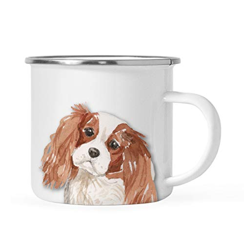 (Andaz Press 11oz. Stainless Steel Dog Campfire Coffee Mug Gift, Cavalier King Charles Spaniel Up Close, 1-Pack, Pet Animal Camp Camping Enamel Cup Modern Birthday Gift Ideas for Him Her Family)