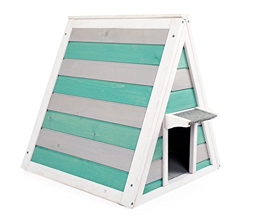 Green A4Pet Cat House Shelter for Outdoor Cats