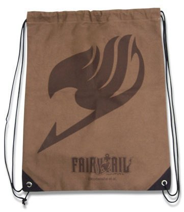 Fairy Tail Insignia Brown Drawstring Bag by Fairy Tail