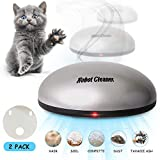 Interactive Pet Toys Automatic Cat Kitten Light Catch 2 in 1 Quiet Robotic Cleaner, for Pet Hair, Carpets, Hard Floors Exercise Electric Teaser