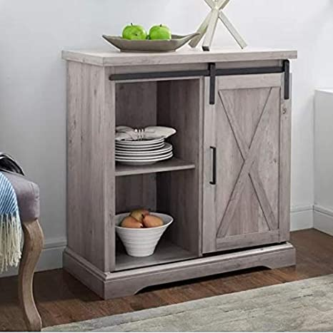 Amazon Com Dinning Buffet Cabinets Buffett Cabinets Gray 32 Inch Wide Sideboards Showcase Your Home Decor While Meeting Your Storage Need Buffets Sideboards