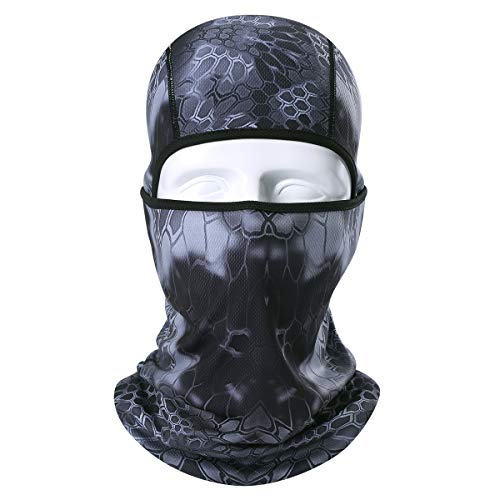 AXBXCX Camouflage Breathable Seamless Balaclava Helmet Liner Face Mask UV Protection Dust for Running Snowboarding Ski Fishing Hunting Off-Roading Motorcycle ATV ()
