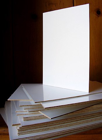 Plein Air Gesso Coated 1/16 inch Thick Wood Panel 8 x 10 by Art Boards