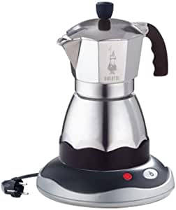 Bialetti Easy Timer - Cafetera (Cafetera moka eléctrica, De café molido, Negro, Plata): Amazon.es: Hogar
