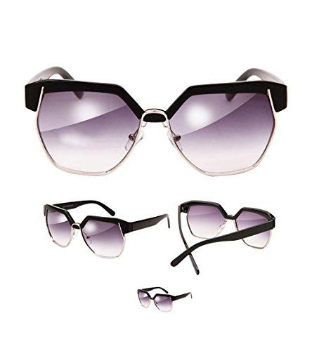 sol semirremolque Gafas de A poligonales amp;Gafas retro grande de protecciónn montura LYM sol de Gafas sol B Color Gafas de de mujer de amp; f7Rcwqa4