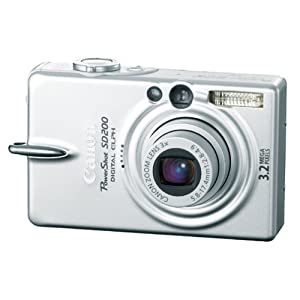 Canon Powershot SD200 3.2MP Digital Elph Camera with 3x Optical Zoom (OLD MODEL)