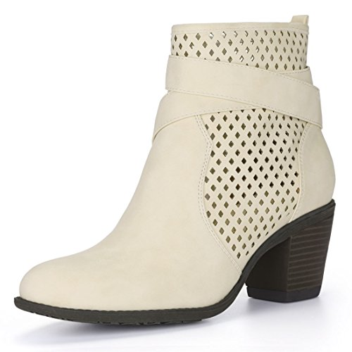 Perforated Cross Straps K Booties Women's Allegra Beige 7qTIxE7w