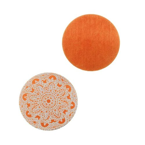 Circle Stamping Orange W/ Ornamental Pattern 19mm (2) (Lillypilly Aluminum Circle)