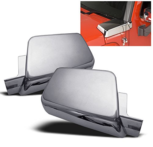 ZMAUTOPARTS Hummer H3 Side Air Intake Hood Vents Covers Chrome Moulding Bezel