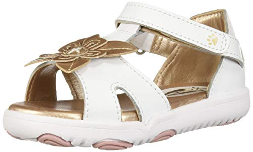 Hush Puppies Girls' Dixie Sandal, White, 060 Medium US Toddler (Sandals Kids Hush Puppies)