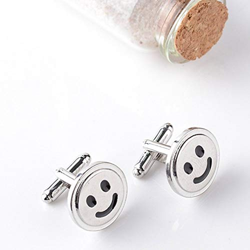 (Smiley Face Smile Happy Face Cufflinks Mens Cuff Links SG)