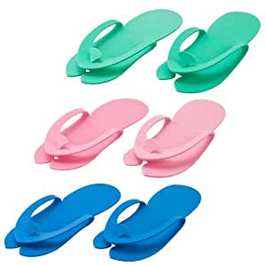 Disposable Pedicure Salon Flip Flop Slippers Nail Foam 36 Thong Foot Sandles Spa