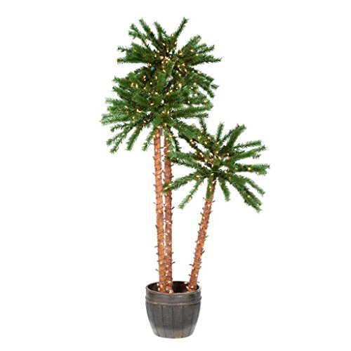 Vickerman 517383-4-5-6' Outdoor Palm Tree 500 Clear Miniature Lights (A112861)
