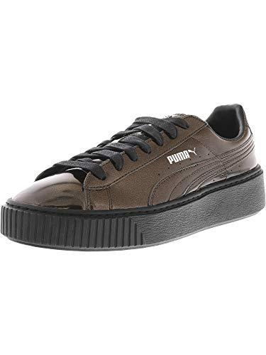 - Puma Women's Basket Platform Metallic Black/Ankle-High Fashion Sneaker - 9.5M