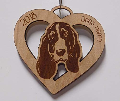 Basset Hound, Basset Hound Ornament, Personalized Basset Hound Ornament, Basset Hound Gift