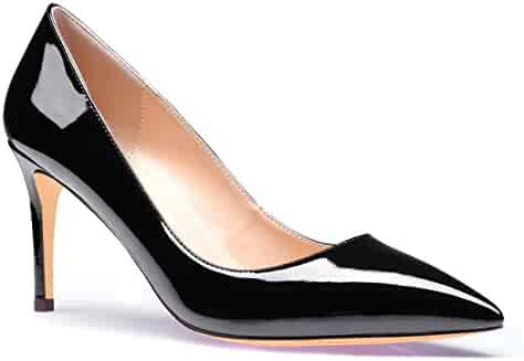 60c8257048a SUNETEDANCE Pumps Shoes Women Slip On Comfort Classic Heels Office Business  High Heels Pointed Toe Stiletto