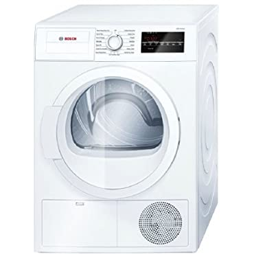 Bosch WTG86400UC 300 Series 24 Compact Electric Condensation Dryer with 4 cu. ft. Galvalume Drum Sensitive Drying System 15 Programs and 6 Options in