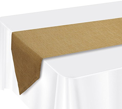 Beistle 52136 Faux Burlap Table Runner, 12