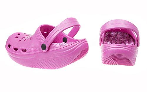 Tonificación Sabot–Rocker Sole Comfort–Zuecos Shock Pink