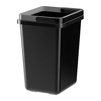 Abfalltrennung Küche   Ikea Variera Behalter Fur Abfalltrennung In Schwarz 11l Amazon