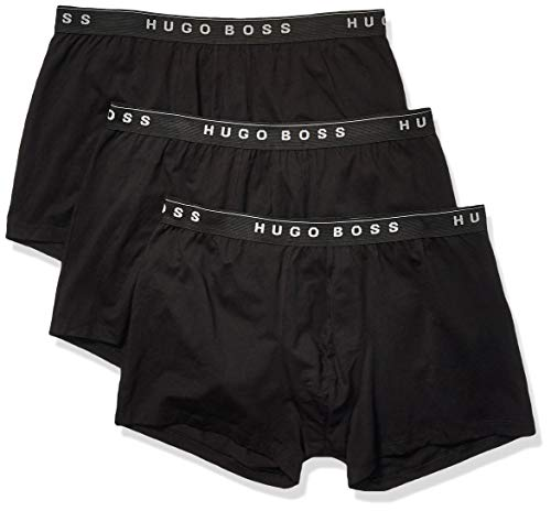 Hugo Boss BOSS Men's 3-Pack Cotton Trunk, New Black, -