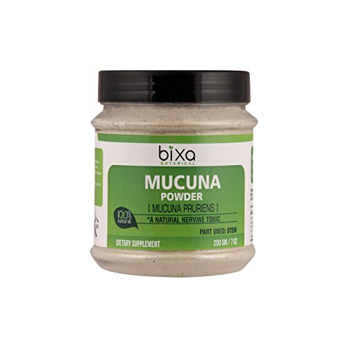 Mucuna Pruriens Powder (Velvet Bean Powder/Kapikacchu) L-Dopa Source ǀ Natural Nervine Tonic & Muscle Builder ǀ Herbal Mood Enhancement and Aphrodisiac Supplement ǀ Libido Booster (7 Oz/200g) (Tonic Nervine)