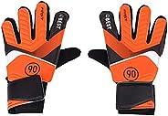 Goalkeeper Mitts, Soccer Goalie Mitts Kids Children Toughest Saves Strong Grip Soccer Finger Mitts(S-Orange)
