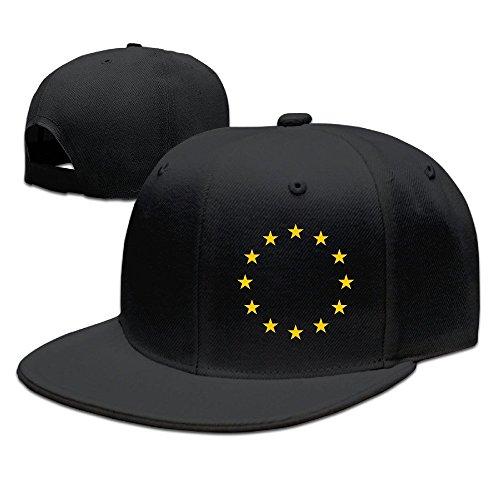MaNeg Flag Of Europe Unisex Fashion Cool Adjustable Snapback Baseball Cap Hat One Size - Prada Uk Clothing