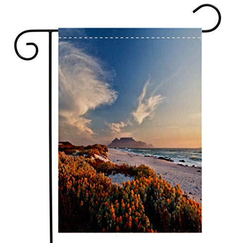 - BEIVIVI Custom Double Sided Seasonal Garden Flag Scenic View of Table Mountain Cape Town South Africa from bloubergstrand Garden Flag Waterproof for Party Holiday Home Garden Decor