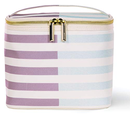 Kate Spade New York Insulated Soft Cooler Lunch Tote with Double Zipper Close and Carrying Handle, Two-Tone -