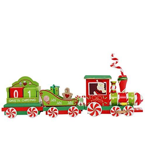 ain Wooden Xmas Train Ornaments Christmas Pendant Christmas Kids Toy (Multicolor) (Pendant Indoor Clear Bubble)