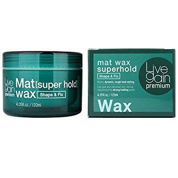 Livegain Premium Mat Wax Superhold 4.05 fl.oz.(120ml) Matte Hair wax