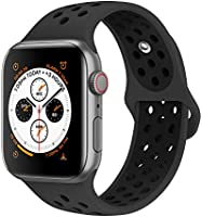 AdMaster Compatible with Apple Watch Bands 38mm 40mm,Soft Silicone Replacement Wristband Compatible with iWatch Series...