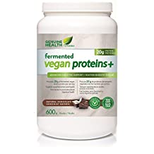 GENUINE HEALTH Fermented Vegan Proteins+ (Chocolate - 600 Grams)